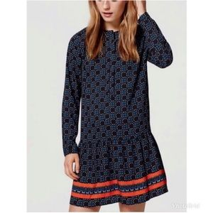 LOFT Navy Floral Dress